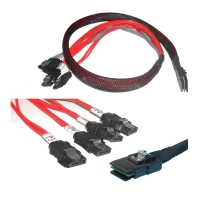Кабель Mini SAS Cable, SFF-8087 to 4xSATA, длина 1 метр, SAS-028, Negorack