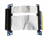 Ризер 1U PCI-express x8 Single Slot Flex Riser Card  на шлейфе 10см, (NR-RC8xF)