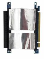 Ризер 1U PCI-express x16 Single Slot Flex Riser Card  на шлейфе 10см, экранированный, NR-RC16xFS